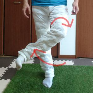 股関節の外旋の動かし方