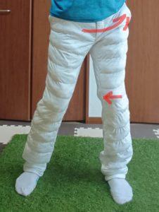 左股関節の内旋の動かし方