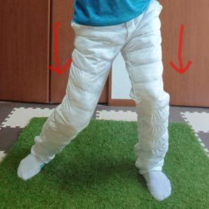 左股関節の内旋とヒザの動き