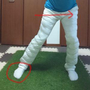 切り返しでの股関節の動き