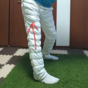 股関節の間違った動き(バックスイング)
