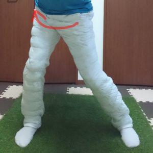 右股関節の内旋運動