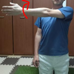 左手の挙上内転の動き