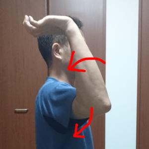 右手の外旋運動(側面から)