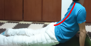 背骨の静的ストレッチ2
