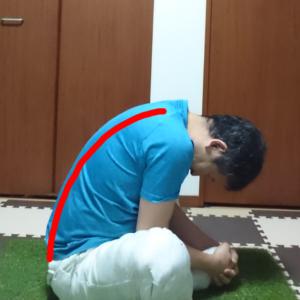 背骨の静的ストレッチ1