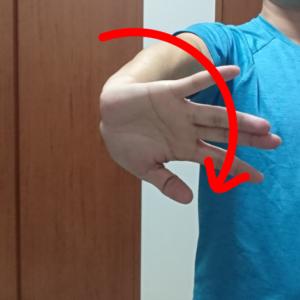 前腕をねじる静的ストレッチ2