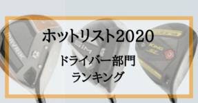 ホットリスト2020年版ドライバー部門ランキング