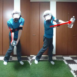 インパクトでボールを押し込む動きを身につけるコンテクスチュアルトレーニング①