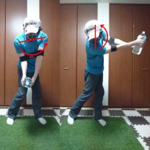 インパクトでボールを押し込む動きを身につけるコンテクスチュアルトレーニング②