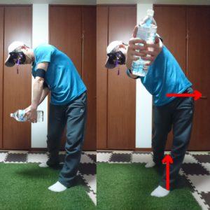 インパクトでボールを押し込む動きを身につけるコンテクスチュアルトレーニング③