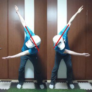 前傾姿勢をキープするスイングを身につける為のコンテクスチュアルトレーニング③