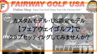 【カスタムモデル・US限定モデル】フェアウェイゴルフでクラブセッティングしてみませんか?