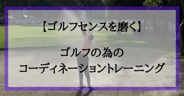 【ゴルフセンスを磨く】ゴルフの為のコーディネーショントレーニング